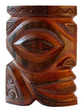 Traditional tiki fetish polynesian sculpture Stock Images