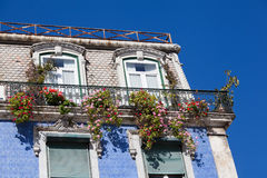 Traditional tiled house in Lisbon Stock Image