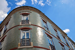 Traditional tiled house in Lisbon Stock Photos