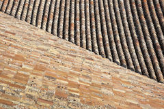 Traditional tiled roof Royalty Free Stock Images