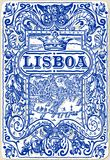 Traditional Tiles Azulejos Lisboa, Portugal vector illustration
