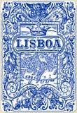 Traditional Tiles Azulejos Lisboa, Portugal Royalty Free Stock Photos