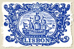 Traditional Tiles Azulejos Lisbon - Portugal Stock Photography