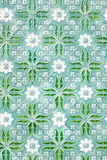 Traditional tiles with nice green painting from Portug Stock Images