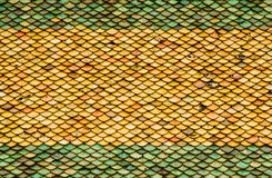 Traditional Tiles Roof Thai Style Stock Image