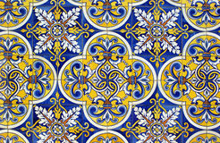 Traditional tiles in Santa Eulalia church royalty free stock photography