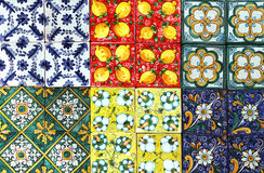 Traditional tiles, from sicily Royalty Free Stock Photos