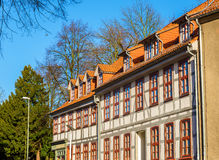 Traditional timbered buildings in Gottingen Royalty Free Stock Photo