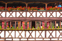 Traditional timbered house in petite france, Strasbourg, Alsace, Stock Photos