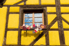 Traditional timbered house in petite france, Strasbourg, Alsace, Stock Photography