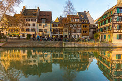 Traditional timbered house in petite france, Strasbourg, Alsace, Stock Image
