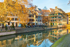 Traditional timbered house in petite france, Strasbourg, Alsace, Royalty Free Stock Image