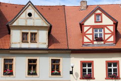 Traditional timbered house Stock Photo