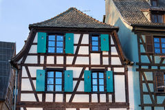 Traditional timbered houses in alsace, Strasbourg. Royalty Free Stock Photos