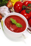 Traditional tomato soup Stock Images