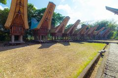 Traditional Toraja village Royalty Free Stock Photography