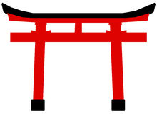 Traditional Torii gate vector Stock Photo