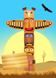 Traditional totem Stock Photography