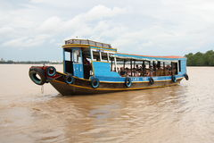 Traditional Tourist boat, Mekong Delta Royalty Free Stock Photo