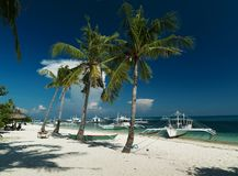 Traditional tourist boats - Malapascua Island - Philippines Stock Photography