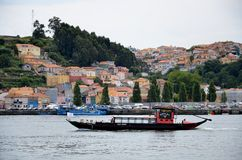 Traditional touristic boat on Douro river Stock Photography