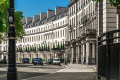 Traditional town houses at Belgravia district in London Royalty Free Stock Images