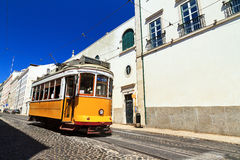 Traditional tram Lisbon Royalty Free Stock Image