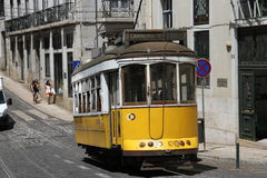 Traditional tram in Lisbon Stock Photos
