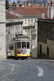 Traditional tram in Lisbon Royalty Free Stock Photography