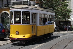 Traditional tram in Lisbon Stock Image