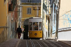 Traditional tram in Lisbon Royalty Free Stock Photo