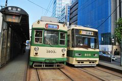 Traditional trams Stock Images