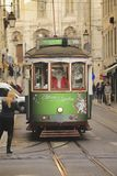 Traditional tramway in Lisbon Royalty Free Stock Images