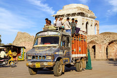 Traditional transport vehicle. India Royalty Free Stock Photography