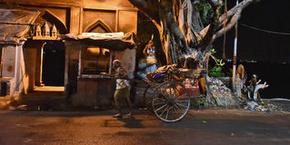 Traditional Transportation of Old Kolkata Stock Images