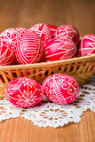 Traditional transylvanian hand written eggs Royalty Free Stock Image