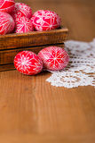 Traditional transylvanian hand written eggs Stock Image
