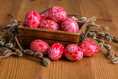 Traditional transylvanian hand written eggs Stock Photo
