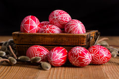 Traditional transylvanian hand written eggs Stock Photography