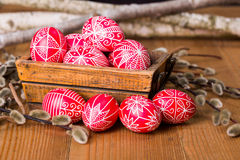 Traditional transylvanian hand written eggs Royalty Free Stock Photos
