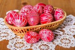 Traditional transylvanian hand written eggs Royalty Free Stock Photography