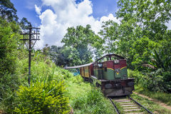 Traditional tren in Ella, Uva province, Sri Lanka stock image