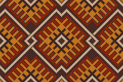 Traditional Tribal Aztec seamless pattern Stock Photos