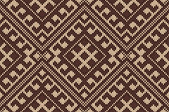 Traditional Tribal Aztec seamless pattern on the wool knitted texture Royalty Free Stock Photos