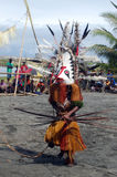 Traditional tribal dance at mask festival Royalty Free Stock Photography
