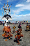 Traditional tribal dance at mask festival Stock Photos