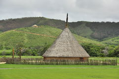 Traditional tribal house in new caledonia royalty free stock image