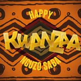 Traditional Tribal Kwanzaa Background, Vector Illustration royalty free stock photo