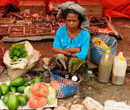 Traditional tribal market on an island Timor, Indonesia Royalty Free Stock Photos