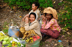 Traditional tribal market on an island Timor, Indonesia Stock Images
